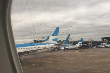 Los aviones a punto de despegar