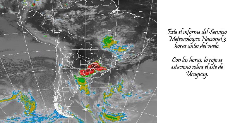 Informe del Servicio Meteorológico Nacional