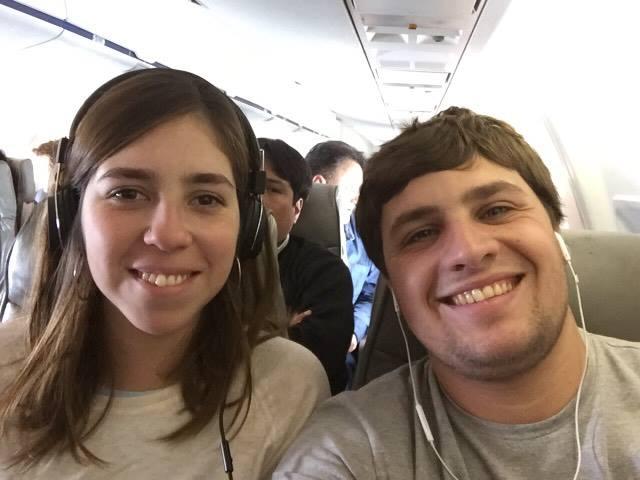 aula Monzón, en un avión después de 20 años
