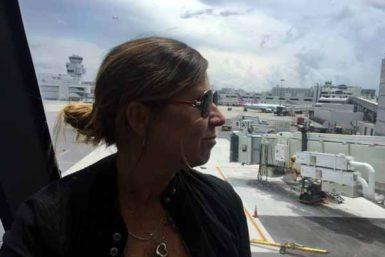 Antes de subir al avión
