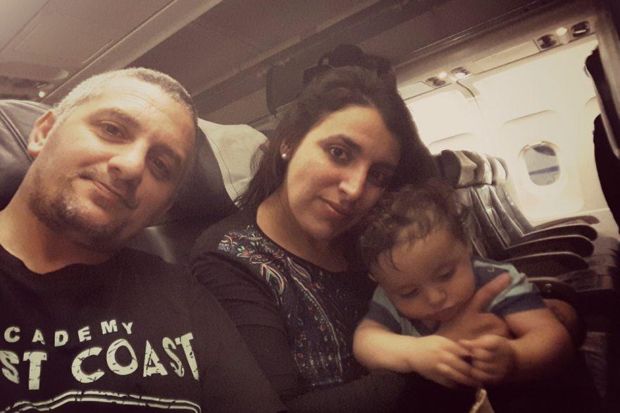 Fue su primer viaje en avión