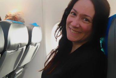 Karina volvió a volar después de 10 años