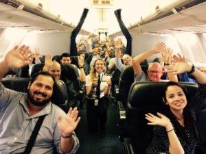 Selfie con los pasajeros