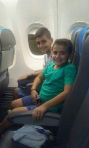 Benjamín y Pablo disfrutaron del vuelo