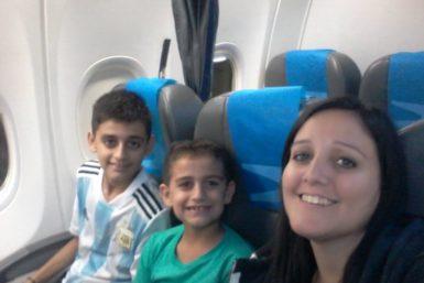 Ana lombardo y sus hijos
