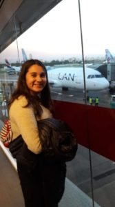 Lourdes, a punto de embarcar