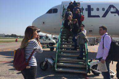 Subiendo al avión