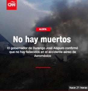 Esto publicó CNN en Twitter