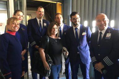 La tripulación nos dio la bienvenida