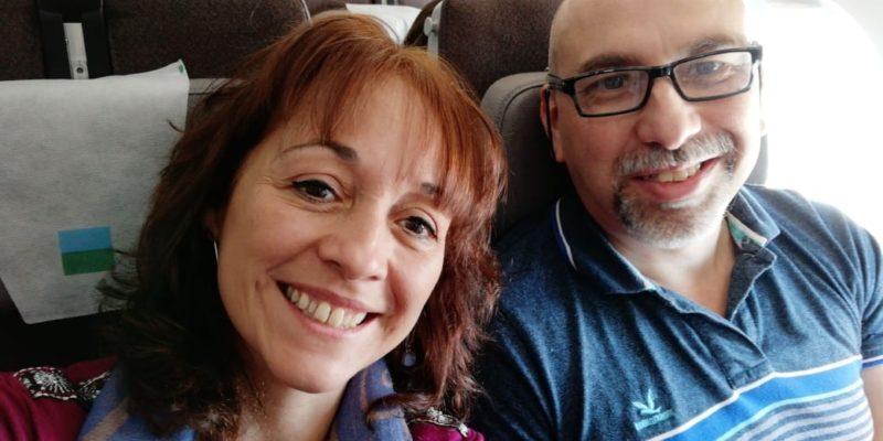 Gabriela y su esposo