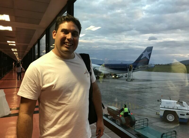 En el aeropuerto de Salta