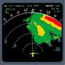 Imagen de un radar en vuelo